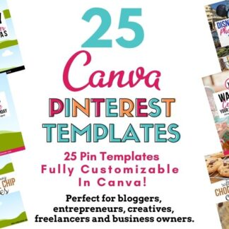 Use these 25 pre-made Canva templates to increase your visibility on Pinterest.