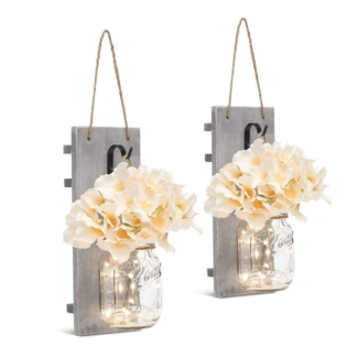 Rustic Mason Jar LED Wall Sconces