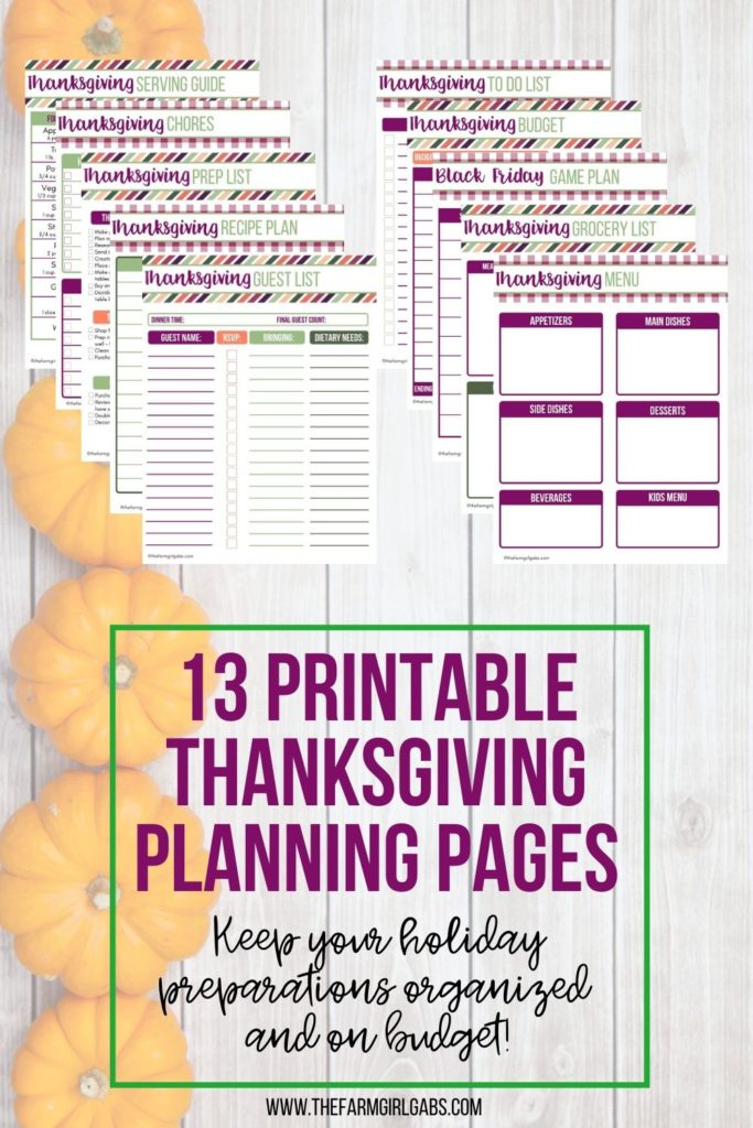 The biggest foodie holiday, also known as Thanksgiving is just around the corner. Are you ready for the big feast? It's time to get your Thanksgiving Game Plan in order. This helpful Thanksgiving Printable Planner will help you take control of your holiday planning.