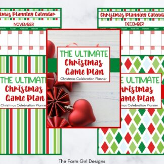 This printable holiday planner is everything you need to plan out your Christmas holiday including your menu, grocery list, cleaning schedule, chores, and even plan for Black Friday and Cyber Monday shopping! This planner even has three different cover options so you can customize it as you like.
