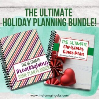 Stress less this holiday season with TWO great planning bundles. Make your Thanksgiving and Christmas planning easy and stress-free with these awesome holiday planners. You get two awesome planning bundles for one low price of $12 ($8 savings if purchased separately).