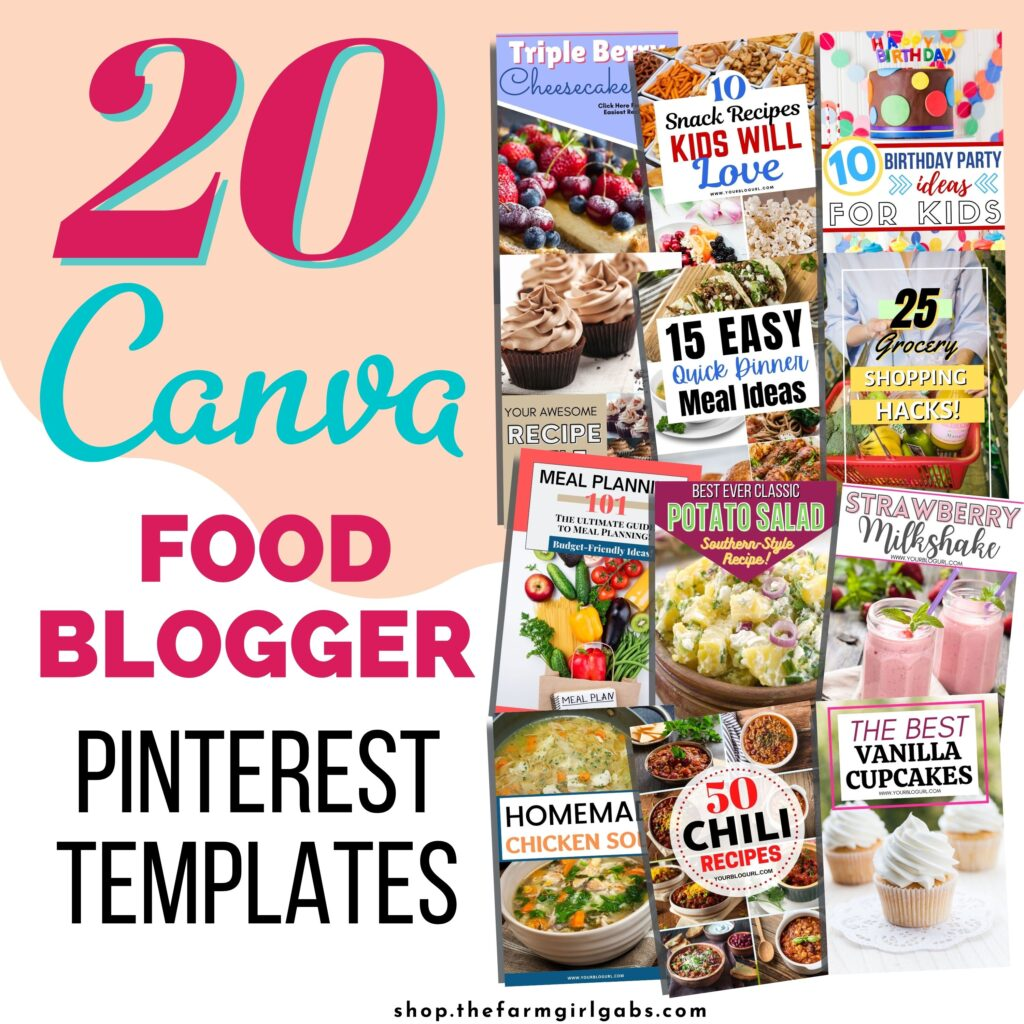 These Pinterest templates are easy to use and completely customizable in Canva. Easily change photos, colors and fonts. These templates are2:3 Ratio (1000 x 1500). Easily create pins in minutes with these easy to use Canva templates.Canva is a free online design software.