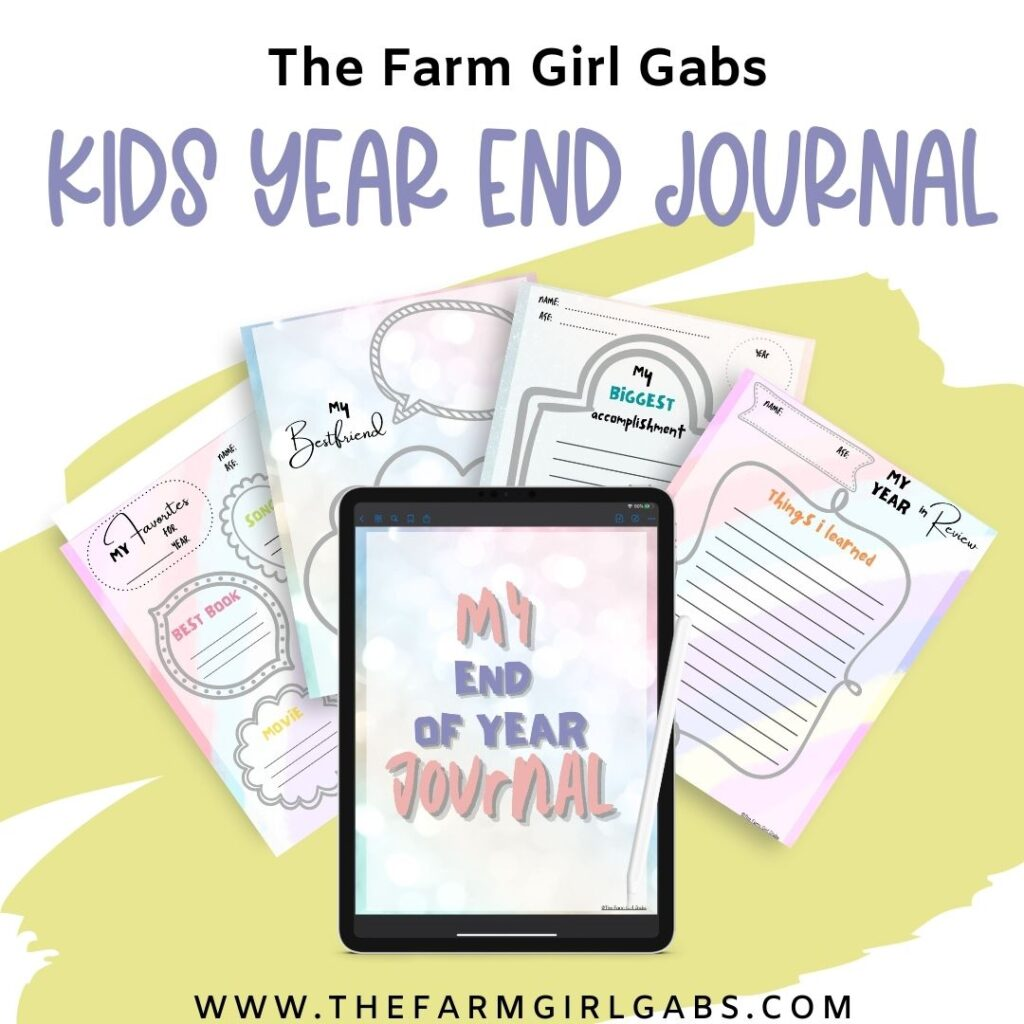End of year journal for kids
