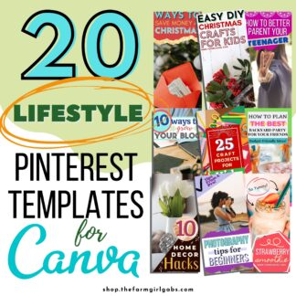 Pinterest Templates for Canva - Lifestyle Blogger