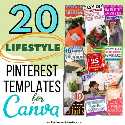 Pinterest Templates for Canva - Lifestyle Blogger