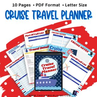 Ready to set sail on a cruise vacation? This printable cruise planner has everything you need to plan your cruise - from budgeting to packing to planning your port of call excursions, can be found in this Printable Cruise Planner