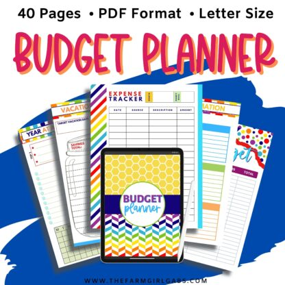 Take control of your finance with this Printable Budget Planner. This financial planner has all the tools to take control of your finances.