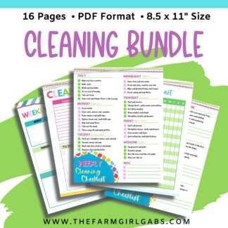 Like to keep a tidy home but need some organization help? This Ultimate Cleaning Bundle will help you stay on task with your cleaning and home improvement projects.