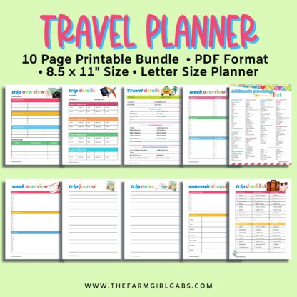 This Printable Family Vacation Travel Planner includes all the vacation planning pages you need to plan your family vacation.