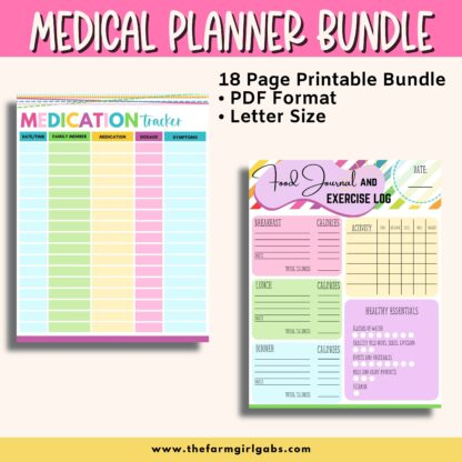 This letter-size binder will help you keep your family medical information in one place. This family medical planner will help you stay organized.