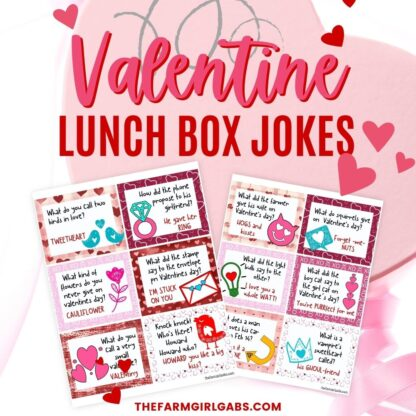 Surprise your kids with these fun printable lunchbox notes for Valentine's Day. Download and print out these free Valentine Lunchbox joke cards.