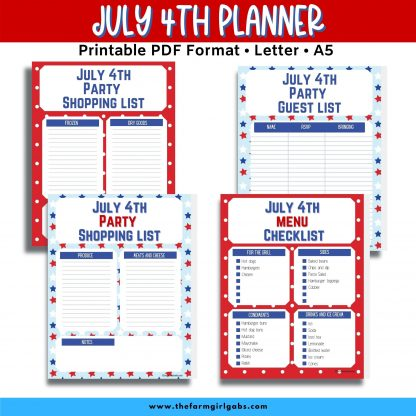 july 4th planner