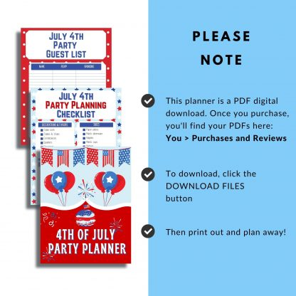 Plan an epic Fourth of July Celebration. This July 4th Party Planner will help you plan all the details from your patriotic party menu to your guest list.