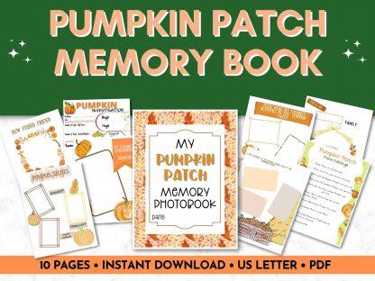 Fall pumpkin patch memory book printable