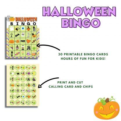 Halloween Bingo, Fall Games for Kids, Halloween Games