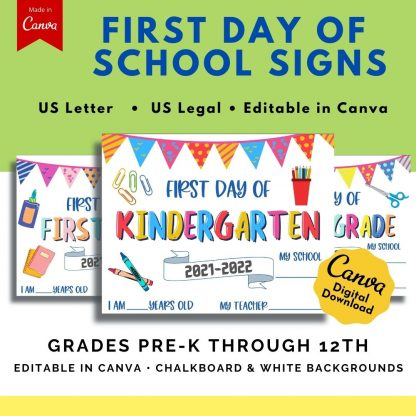 It's back to school time! Whether your kids are going back to in-person school or just starting homeschool at home, it's fun to capture the moment! These printable back-to-school chalkboard signs are perfect for creating and sharing those special school days' memories!