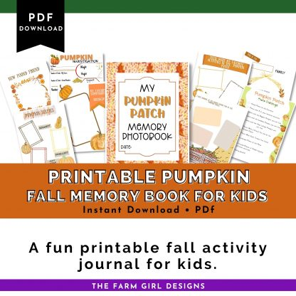 Fall pumpkin patch memory book