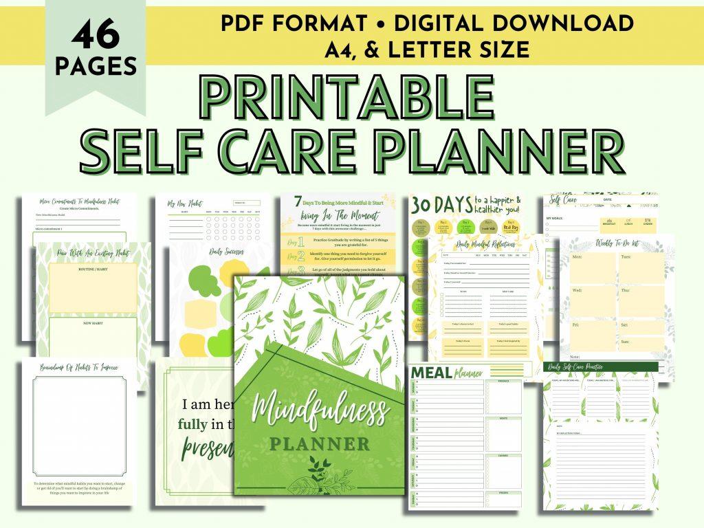 Self Care Planner