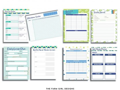 Start your homeschool year ready and organized. This 75-page printable homeschool planner has all the information you need to plan a successful school year for your kids. This Ultimate Homeschool Planner Bundle will help you plan your days, weeks and year and track your success. This printable student planner comes in four sizes. Plan out the entire school year with this easy to use school planner.